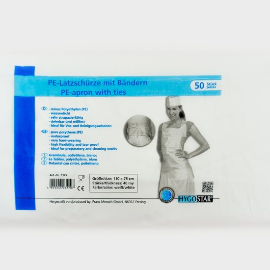 PE-Latzschürze mit Bändern